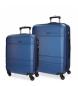 Compar Movom Case set Movom Galaxy rigid 55-68cm Blue -40x55x20cm / 48x68x27cm