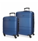 Juego de maletas Movom Galaxy rígido 55-68cm Azul -40x55x20cm / 48x68x27cm-