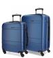 Juego de maletas Movom Galaxy rígido 55-68cm Azul