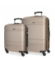 Juego de maletas Movom Galaxy rígido 55-68cm Champagne -40x55x20cm / 48x68x27cm-