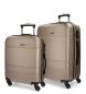 Juego de maletas Movom Galaxy rígido 38L/72L Champagne -40x55x20cm / 48x68x27cm-