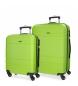 Compar Movom Juego de maletas Movom Galaxy rígido 55-68cm Pistacho -40x55x20cm / 48x68x27cm-