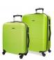 Juego de maletas Movom Galaxy rígido Pistacho -40x55x20cm / 48x68x27cm-