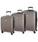 Compar Movom Juego de maletas Movom Riga rígido 55-70-80cm Antracita -40x55x20cm / 49x70x26cm / 56x80x29cm-