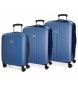 Compar Movom Juego de maletas Movom Riga rígido 55-70-80cm Azul -40x55x20cm / 49x70x26cm / 56x80x29cm-