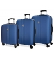Juego de maletas Movom Riga rígido  Azul -40x55x20cm / 49x70x26cm / 56x80x29cm-
