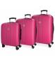 Compar Movom Set di valigie Movom Riga rigido 55-70-80cm Fucsia -40x55x55x20cm / 49x70x26cm / 56x80x29cm