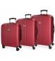 Compar Movom Juego de maletas Movom Riga rígido 55-70-80cm Rojo -40x55x20cm / 49x70x26cm / 56x80x29cm-