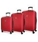 Juego de maletas Movom Riga rígido Rojo -40x55x20cm / 45x65x28cm / 52x75x33cm-