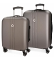 Compar Movom Juego de maletas Movom Riga rígido 55-70cm Antracita -40x55x20cm / 49x70x26cm-