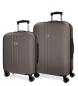 Juego de maletas Movom Riga rígido Antracita -40x55x20cm / 49x70x26cm-