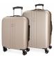 Compar Movom Set di valigie Movom Riga rigido 55-70cm Champagne -40x55x55x20cm / 49x70x26cm