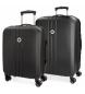 Juego de maletas Movom Riga rígido 55-70cm Negro -40x55x20cm / 49x70x26cm-