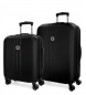 Juego de maletas Movom Riga rígido Negro-40x55x20cm / 49x70x26cm-