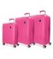 Compar Movom Set de valises Movom Tokyo Fuchsia rigide 55-66-78cm