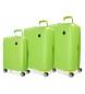 Juego de maletas Movom Tokyo Pistacho rígidas 55-66-78cm