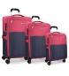 Compar Movom Juego de maletas Movom Tucson fucsia 55-65-75cm