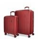 Juego de maletas Movom Wood Red -38,5x55x20cm / 49x70x28cm-