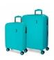 Comprar Movom Juego de maletas Movom Wood Turquoise -38,5x55x20cm / 49x70x28cm-