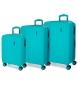 Comprar Movom Madeira bagagem definir Movom Turquoise 55-65-75cm rígida