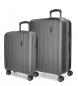 Juego de maletas Movom Wood rígido Antracita -40x55x20cm / 45x65x28cm-