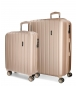 Juego de maletas Movom Wood rígido Champagne -40x55x20cm / 45x65x28cm-