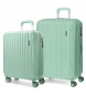 Juego de maletas rígidas Movom Trafalgar Verde  -38x55x20cm / 48x67x26cm-