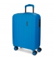 Maleta de cabina extensible rígida Movom Wood Azul -55x38,8x20cm-