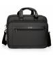 Maletín Movom Business doble compartimento 15,6 pulgadas Negro -40x32x13cm-