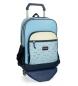 Mochila con carro Movom Wink Azul Doble Compartimento 45x32x15cm-