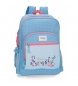 Mochila doble compartimento adaptable a carro Movom Always Smile -32x45x15cm-