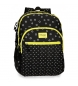 Mochila doble compartimento adaptable a carro Movom Bubbles Amarilla -33x44x13,5cm-