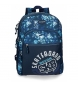 Compar Movom Backpack Double Adaptable Compartment Movom Underground Blue -33x44x13,5 cm