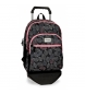 Mochila doble compartimento con carro Movom Leaves Coral -33x46x17cm-