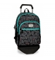 Compar Movom Backpack double compartment with cart Movom Leaves Green -33x46x17cm