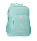Mochila doble compartimento Movom Authentic -32x46x17cm-