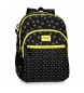 Compar Movom Backpack double compartment Movom Bubbles Yellow -33x44x13,5cm