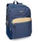 Mochila escolar Movom Babylon Azul doble compartimento -30,5x42,5x15cm- adaptable a carro