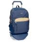 Mochila escolar Movom Babylon Azul doble compartimento -30,5x42,5x15cm- con carro