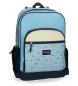 Mochila escolar Movom Wink Azul Doble Compartimento 45x32x15cm-