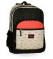 Mochila escolar Movom Wink Beig Doble Compartimento -45x32x15cm-