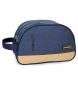 Neceser Movom Babylon Azul doble compartimento adaptable a trolley -26x16x12cm-