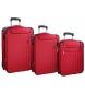 Compar Movom Set de 3 maletas Movom Brooklyn rojo