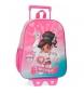 Comprar Nella Mochila Preescolar Nella 33cm Frontal 3D con carro rosa