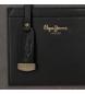 Comprar Pepe Jeans Bandolera doble compartimento Pepe Jeans Lorain Negra -25x18x6.5cm-
