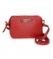 Compar Pepe Jeans Leather shoulder bag Two Compartments Pepe Jeans Mandala red -19x13x3cm