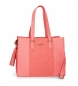 Bolso Pepe Jeans Bitmat Coral - 31x36x13,5cm-