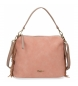 Bolso Pepe Jeans Fringe Nude -29x21x15cm-