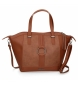 Bolso Shopper Daphne marrón -42x31x12cm