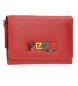 Compar Pepe Jeans Leather wallet with flap Pepe Jeans Mandala red -9x12x2,5cm